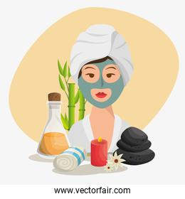 woman avatar on spa