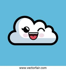 cloud computing character isolated icon