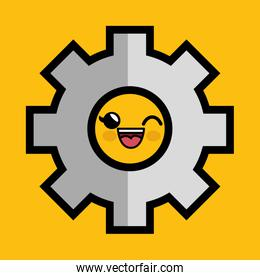 gear machine character icon