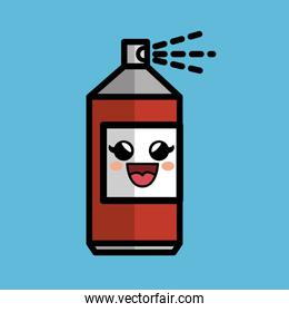 spray paint comic character icon