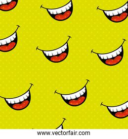 fools mouth pattern background