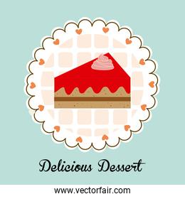 Dessert design over blue background vector illustration
