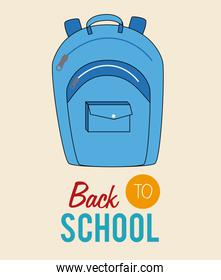 School  design over beige background vector illustration