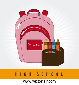 Back to school  design over white background vector illustration