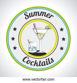 Cocktail design over white background vector illustration