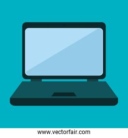 laptop computer technology isolated icon