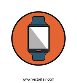 smartwatch technology isolated icon