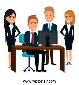 bussiness people working icon