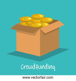 crowd funding concept icon