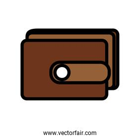 wallet flat isolated icon