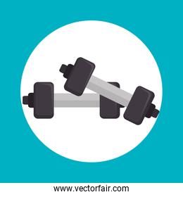 weight lifting equipment icon