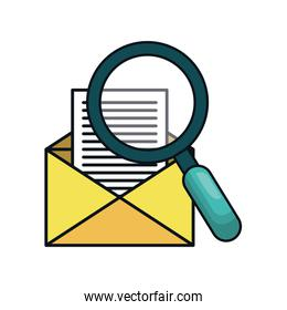 envelope message isolated icon