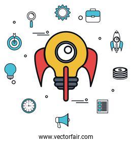 business start up flat icons