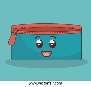 pencil case character icon
