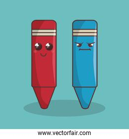 crayons colors funny character