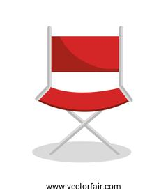 director chair cinema icon over white