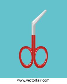 first aids scissors icon