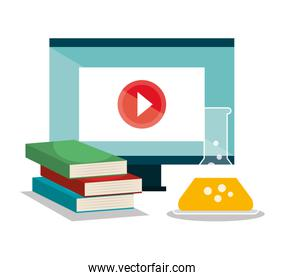 education online flat icons