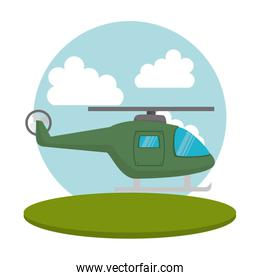 helicopter flight transport icon