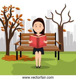 person reading on the park