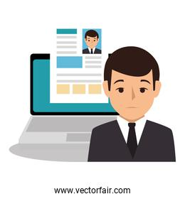 businessman character avatar icon