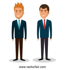 businesspeople avatars characters icon