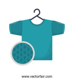 clothes in laundry icon