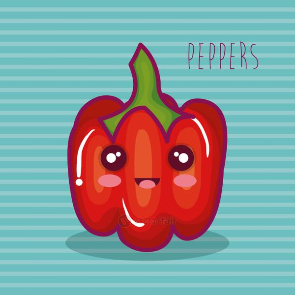 fresh peppers vegetable character