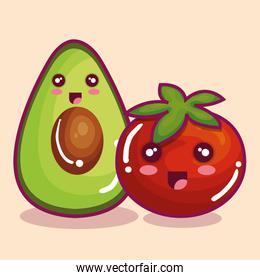 fresh vegetables funny character