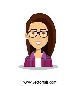 young woman avatar character