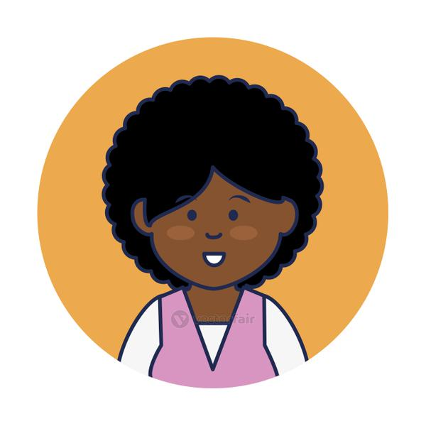 young african woman avatar character