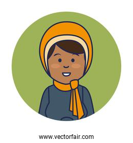 young indian woman avatar character