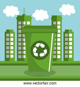 recycle bin ecology icon