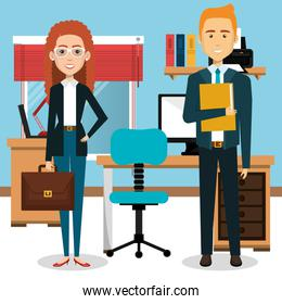 businesspeople in the office avatars characters icon