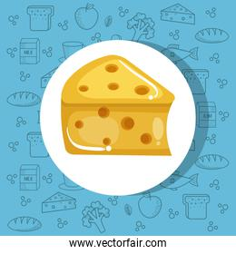 Delicious cheese icon