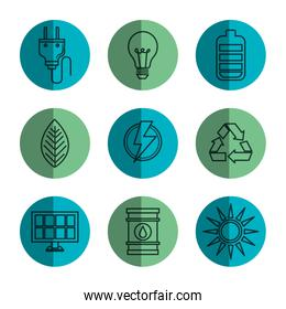 Ecology friendly object icons