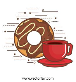Donut and coffee design