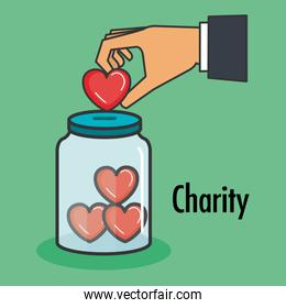 charity and donation give and share your love to poor people
