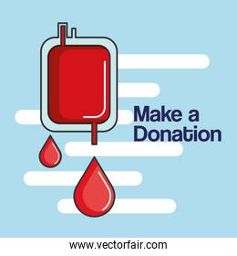 make a donation bag blood healthy care