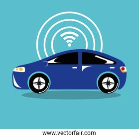 remote sensing system of smart car vehicle front view