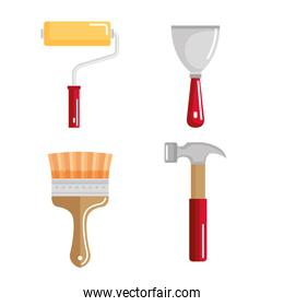 set building construction and home repair tools