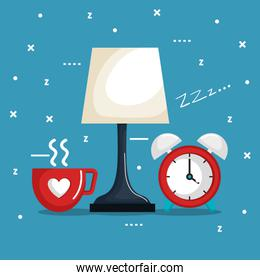 clock with time for sleep