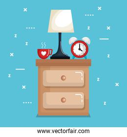 clock table lamp with time for sleep