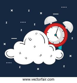 clock with time for sleep cloud