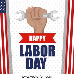 happy labor day poster festival national celebration