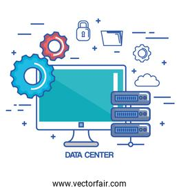 data center pc network server communication connection technology