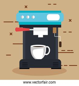 coffee machine with a cup can be used for home restaurant