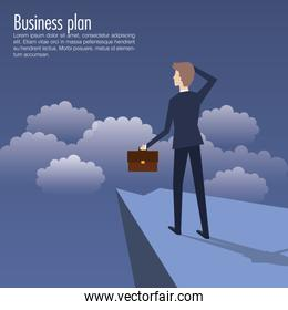 business plan growth with businessman avatar