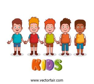 little kids group avatars characters