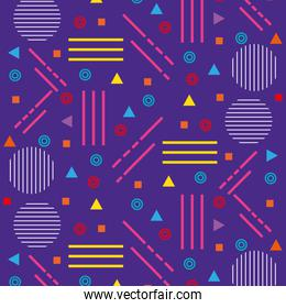lines figures and colors young pattern background